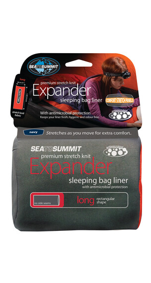 Sea to Summit Expander Slaapzak Long Rectangular groen